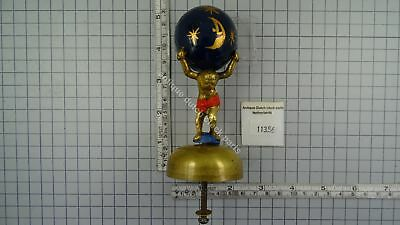 Zaandam Clock Atlas With Brass Bell And Wooden Globe