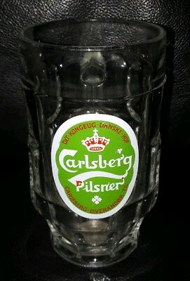 Rare Collectable Carlsberg Pilsner 400Ml Beer Glass Mug In Good Used Condition