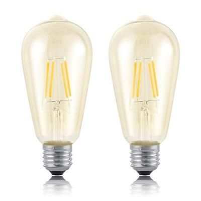Retro Edison Bulb, 4W LED Bulb, Antique Vintage Style Light, Warm Yellow Light D