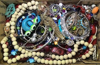 Huge Vintage - Now Jewelry Lot Estate Find Junk Drawer UNSEARCHED UNTESTED #591