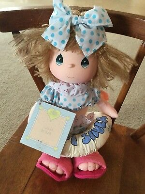 1988 Precious Moments Applause I Would Be Sunk Cloth Doll w/Tag Swimming Free Sh