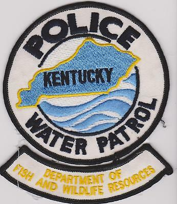 Older Kentucky Fish & Wildlife Resources Water Patrol Game Warden Police Patch
