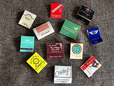 12 Collectible Vintage Matchboxes Match Box International Assorted