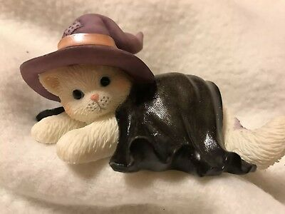 """Enesco Calico Kittens Halloween """"You've Cast A Spell On My Heart""""(112821)"""