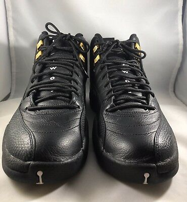 sports shoes 5a411 f43f6 Nike Air Jordan XII 12 Retro THE MASTER BLACK WHITE GOLD TAXI 130690-013 9.5