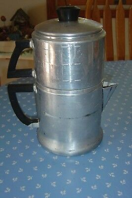 Vintage Wear Ever 6 Cup Stove Top Drip Coffee Pot Percolator camping