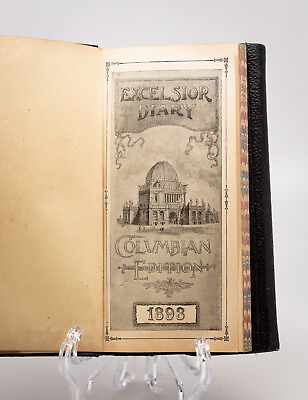 Excelsior Diary, Columbian Exposition edition 1893 w/ building illustrations