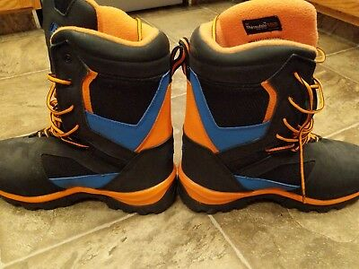 KLIM Adrenaline GTX Boots Size 11 US Black/Orange/Blue