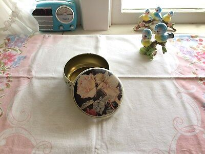 Beautiful vintage fairy and rose tin