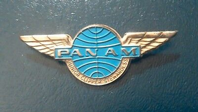Pan Am Vintage 1960's Junior Clipper Stewardess Wing Never Worn Pan American