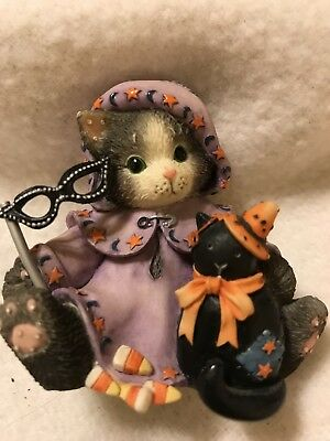 """Enesco Calico Kittens Halloween """"Our Friendship Is A Magical Spell""""(274852)"""