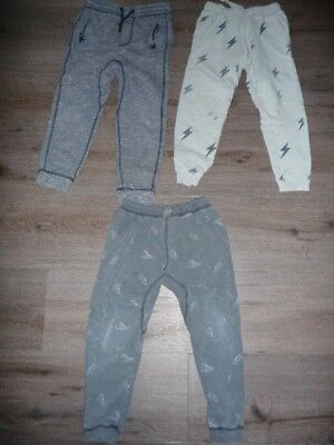 Boys Tracksuit Pants x 3 (incl. H&M) - size 6 - very good used condition