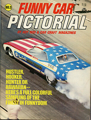 1971 Funny Car Pictorial #3 Rare Color Magazine Original HOT ROD CAR CRAFT MAGS'