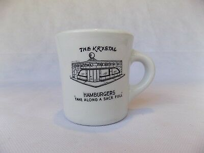 "VTG Shenango China The Krystal Hamburgers ""Take Along A Sack Full "" Mug"