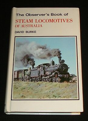 OBSERVER'S BOOK OF STEAM LOCOMOTIVES OF AUSTRALIA  - 1979 Railway , trains