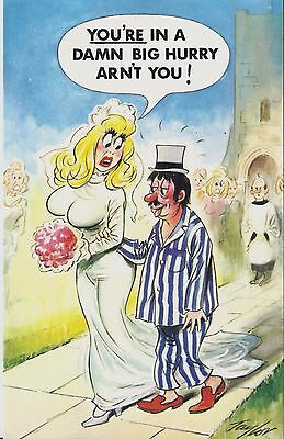 Vintage 1970's Bamforth COMIC Postcard (As new) You're in a Big Hurry #356