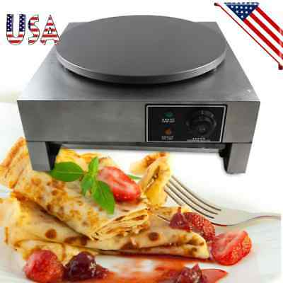 "16"" 3KW Commercial Electric Crepe Maker 110V Kitchen Nonstick Pancake Machine"