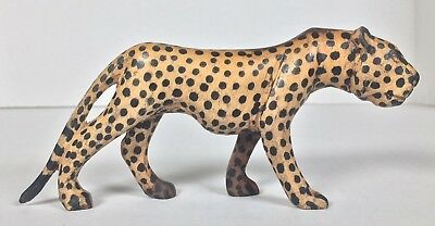 Leopard Hand Carved Hand Painted