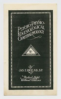 Rare Antique Ophthalmology Medical Advertising Pamphlet - Vancouver, Wa - Quack