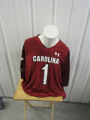 1fa341c6e7f NEW SOUTH CAROLINA Gamecocks Under Armour Football JERSEY  1 Red USC ...