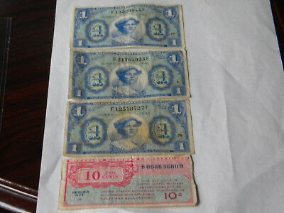 4 notes MPC $1,10 cent series 541,471