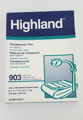 3M Highland Transparency Film 903 Plain Paper Copiers 81 Sheets opened