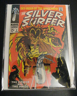 SILVER SURFER #3 1st Mephisto! **Tight, Bright & Super-Glossy!** 1 Flaw from VF+