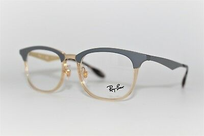 0ed32f80995 New Authentic Ray-Ban Rb 7112 5686 Grey Gold Frames Eyeglasses 51Mm Rb7112  Rx