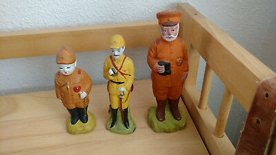 WWII Imperial Japanese Army And Navy Ceramic Figures.