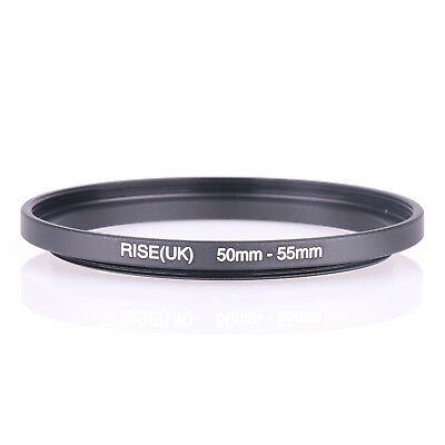 50mm-55mm Step Up Ring 50-55 SLR DSLR Camera / 50mm Lens to 55mm Filter Cap Hood