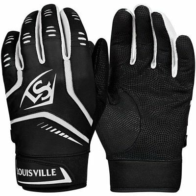 Louisville Omaha Batting Gloves - black/white - Size Youth M