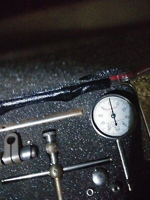 Starrett Dial Test Indicator 196A Dial Reading 0-100 Complete With Attachments