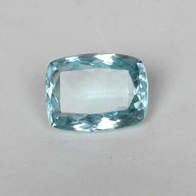 28.70 Ct Natural Aquamarine Greenish Blue Color Cushion Cut Loose Certified Gem