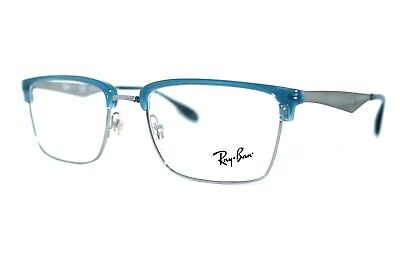 5747e332ac New Authentic Ray-Ban Rb 6397 2934 Blue Silver Frames Eyeglasses 52Mm  Rb6397 Rx