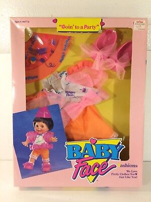 Vintage Galoob Baby Face Fashions 1990 Goin To A Party Outfit Clothing NIB NEW