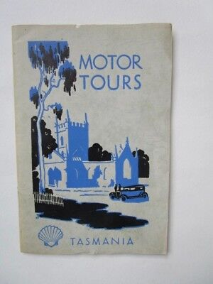 Collectable Maps of Tasmania Motor Tours Tasmanian Maps by Shell co. of Aust.