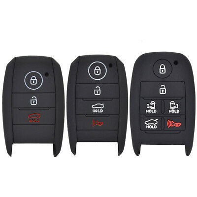 For Kia Rio Ceed Soul Sportage Picanto Carens Silicone Key Case Remote Fob Cover