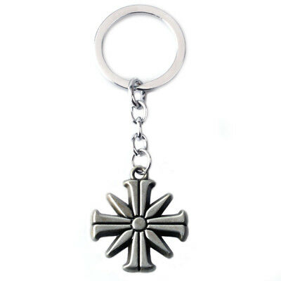 Small Far Cry 5 Action Figure Toy Eden's Gate Metal Keychain Keyring Necklace
