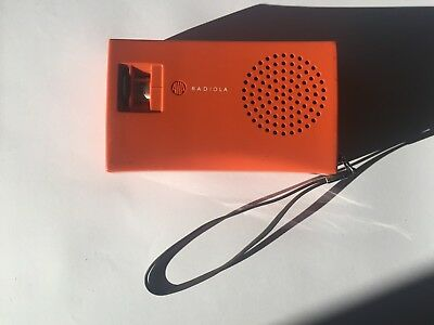Vintage 1960s Transistor Radio AWA B60 Swinging Brick Orange 1967/68 SEE PHOTOS