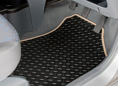 Peugeot Partner Tepee (2008-On) Tailored Rubber Car Mats With Beige Trim [2142]