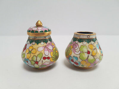 Small Chinese Cloisonne Pair Of Vases