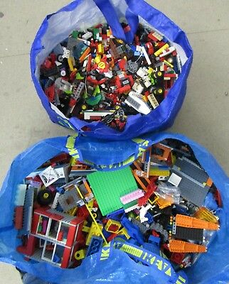 Lego - Job Lot Of Mixed Bricks Etc  - 16.9 Kilos