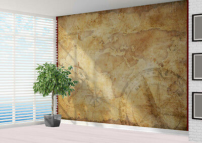 Wallpaper mural Vintage map with compass photo wall mural (16432411) vintage map