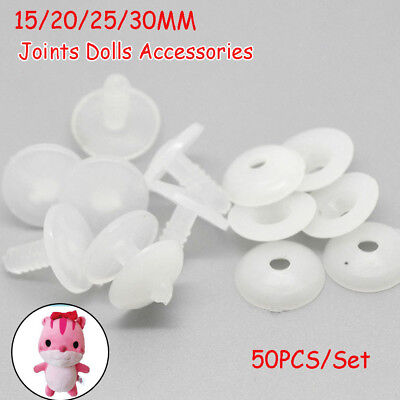 50sets Plastic Animal Joints for Dolls Soft Toys/Teddy Bear Making DIY Crafts