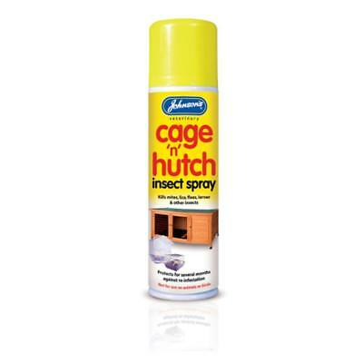 Johnsons CAGE N HUTCH INSECT SPRAY Insecticidal Permethrin Flea Mite Lice Killer