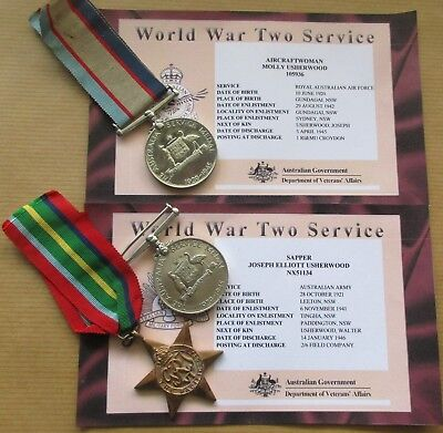 World War Two Medals      Male And Female  Family Connection