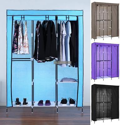 Lockable Foldable Wardrobe Shelving System Clothes Storage Organizer Closet Home