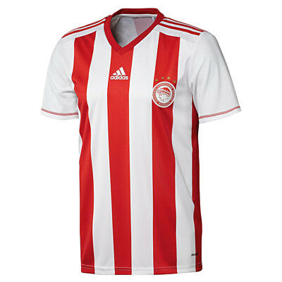 Mens tee adidas Olympiacos Football Club Home Fan T-Shirt V Neck ClimaLite