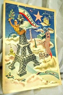 "WW2 Soldier's ""This Dam War"" French Christmas Card/Letter to Sister."
