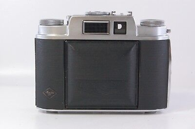 6x6 viewfinder camera Agfa Isolette L with Color Apotar 85mm F4.5 F2.9 Ref.99183